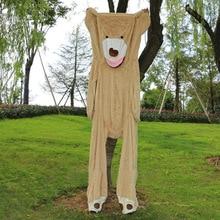 Дешево, 10 шт./партия, 200 см, огромное большое ненабитое животное, плюшевое покрытие с медведем, мягкая игрушка-подушка, чехол(без вещей), подарок на Рождество для девочек