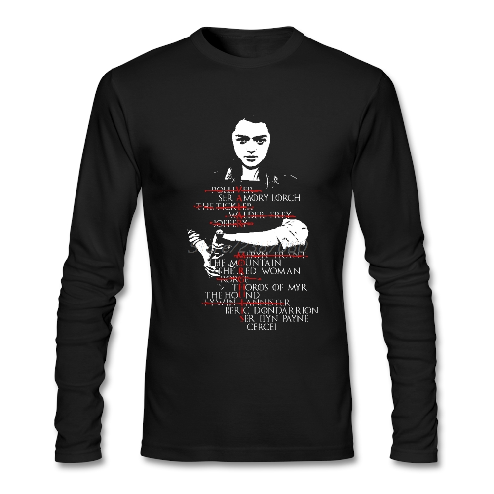 Game Of Thrones T Shirt Long Sleeve Brand-clothing Hipster Hot Sale Cotton Crewneck Men Shirts