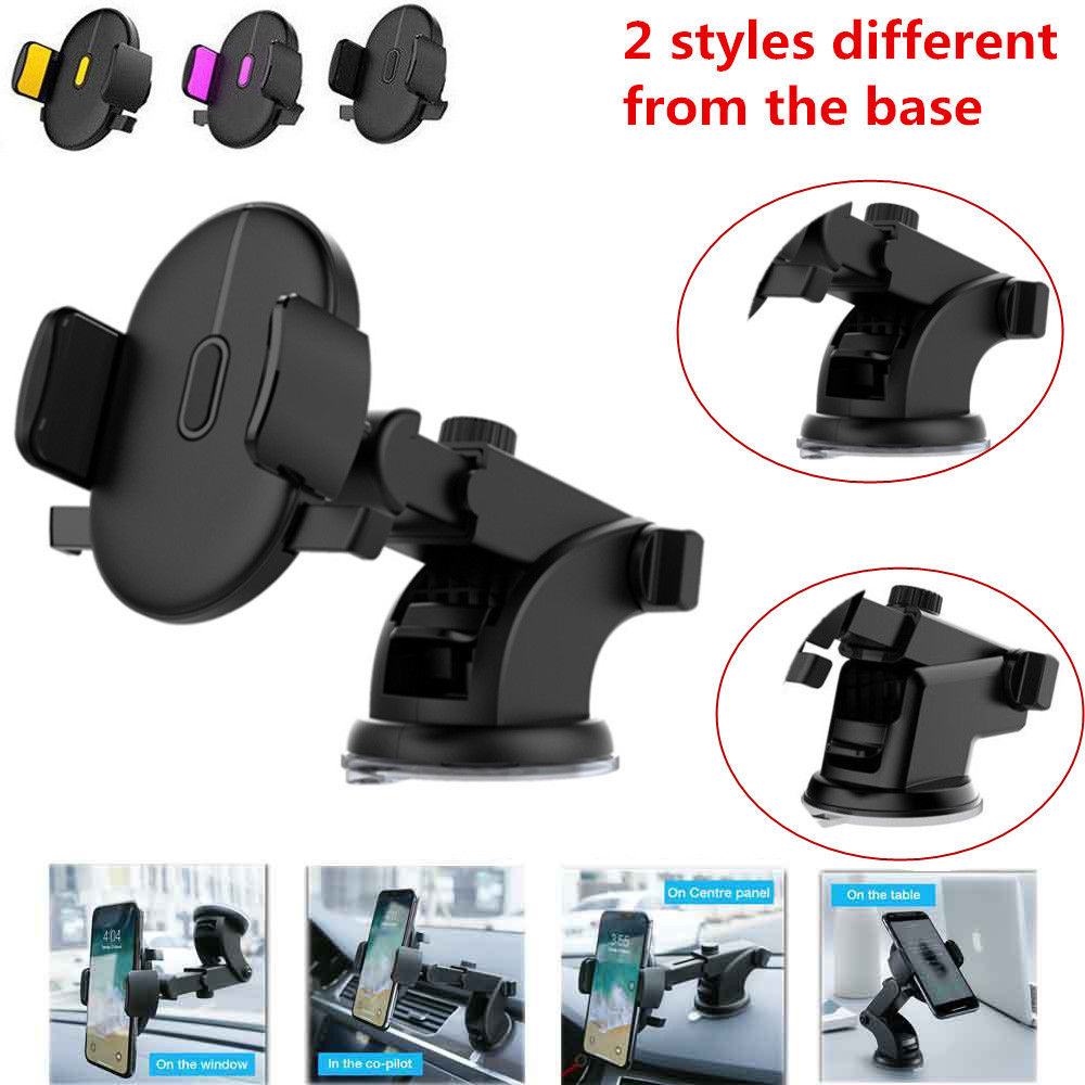 360 Rotation Automatically Locking Windshield Mount Car Phone Holder in Car Stand Support For Samsung iPhone 3 Styles 3 Colors 360 rotation car air condition vent holder stand bracket for samsung galaxy note 3 more black