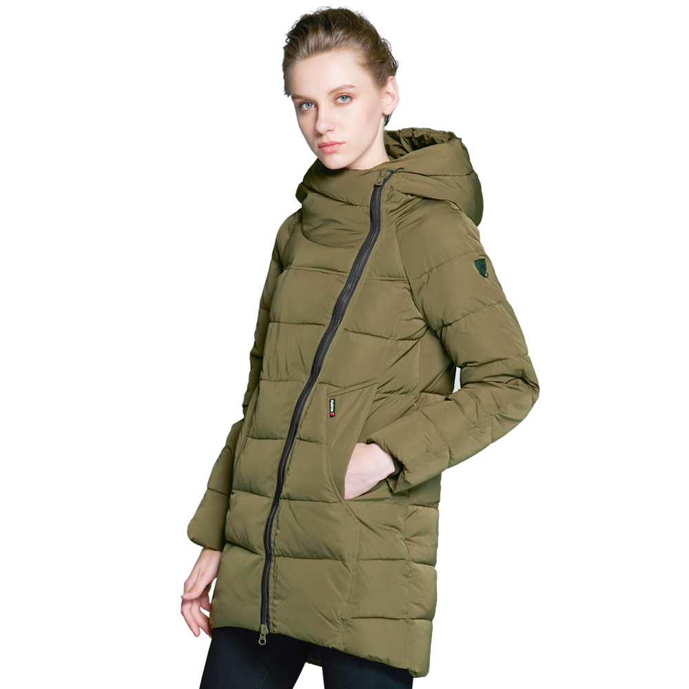 ICEbear 2017 Hot Sales Woman Coat Winter Brand Female Coats Fashion Jackets Thick Warm Down Jacket High-quality Parka 16G607D new arrival fashion winter fur hooded collar long sleeves camouflage plus size mix colors thicken down jackets women coat h5778