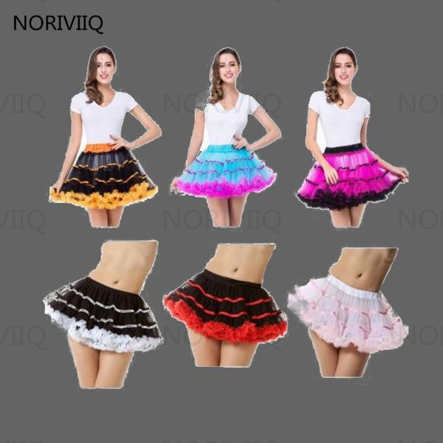 De color de Mini Falda Corta Falda De Tul Suave Retro Vintage Women Pettiskirt Underskirt Crinolina Petticoat 03