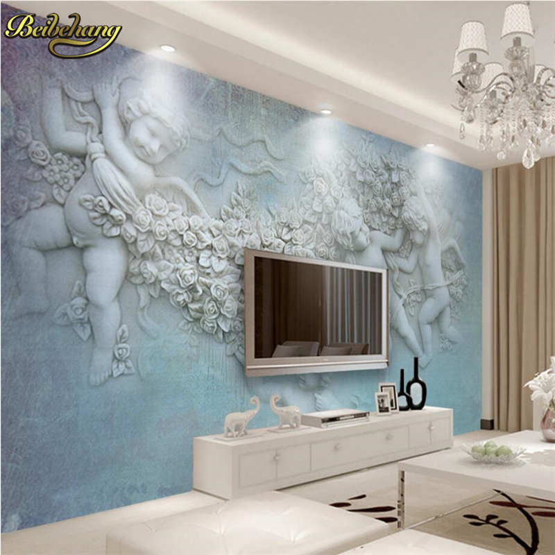 High Quality Beibehang European Small Angel Cupid Custom Photo Wallpaper Living Room  Backdrop 3d Large Wall Mural Wall Gallery