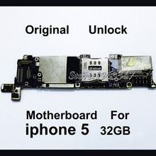 Unlocked Original 32GB Phone Mainboard For Iphone 5 5g, Whole Completed EU version Motherboard With Full Chips Logic Board