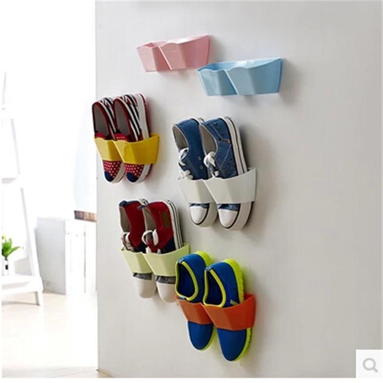 Sticky Hanging Shoe Hook Shelf Rack
