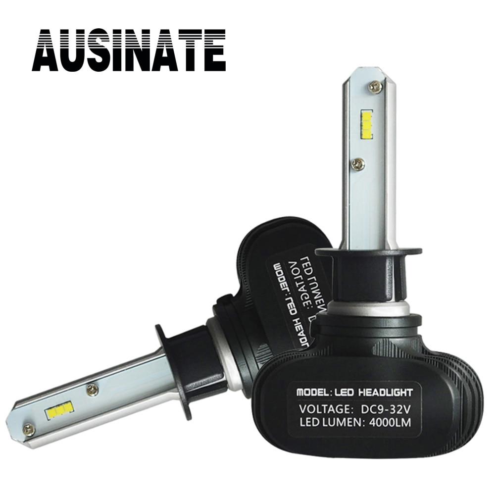 2PCS H1 LED světla do auta autodoplňky Super jasné Auto mlhové světlomety 50W 8000LM 6500K automobilové lampy