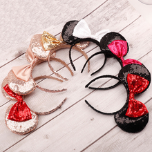 Hair Accessories Minnie Mouse Ears Hairbands Birthday Party Gift Women Kids Fashion Headwear Hairband Sequin Bow Headband headwear hairband sequin bow headband for girls minnie mouse ears hairbands birthday party kids fashion hair accessories