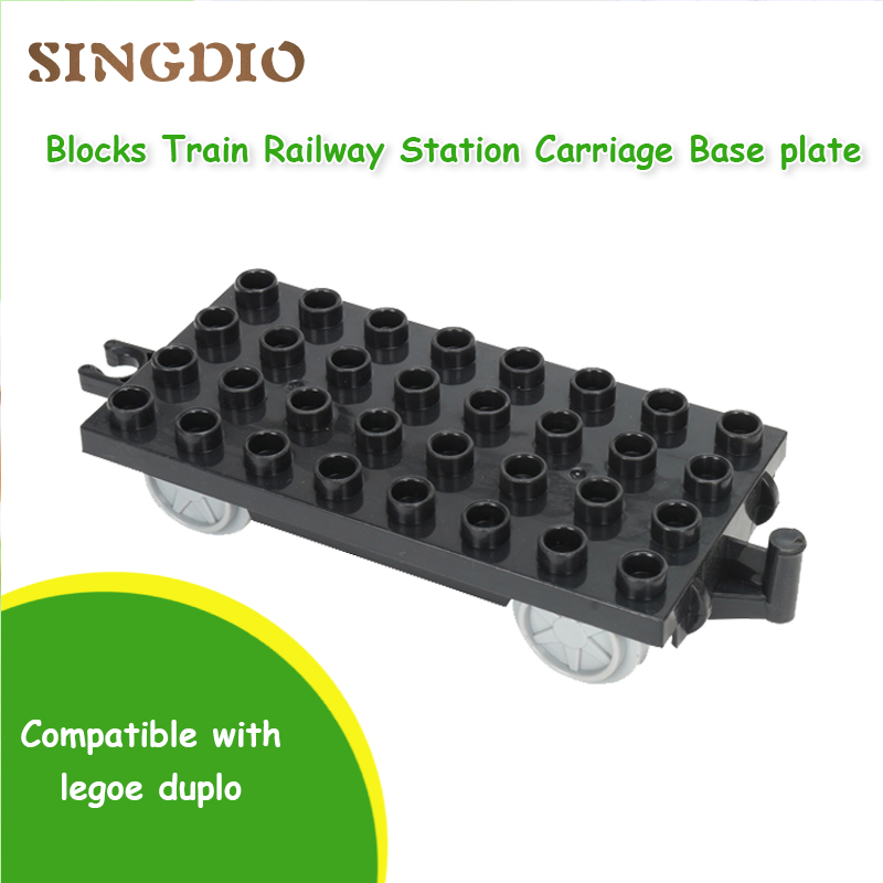 Blocks Train Railway Base Carriage Base Plate big building Self-locking blocks compatible with all brand DIY Accessories toys