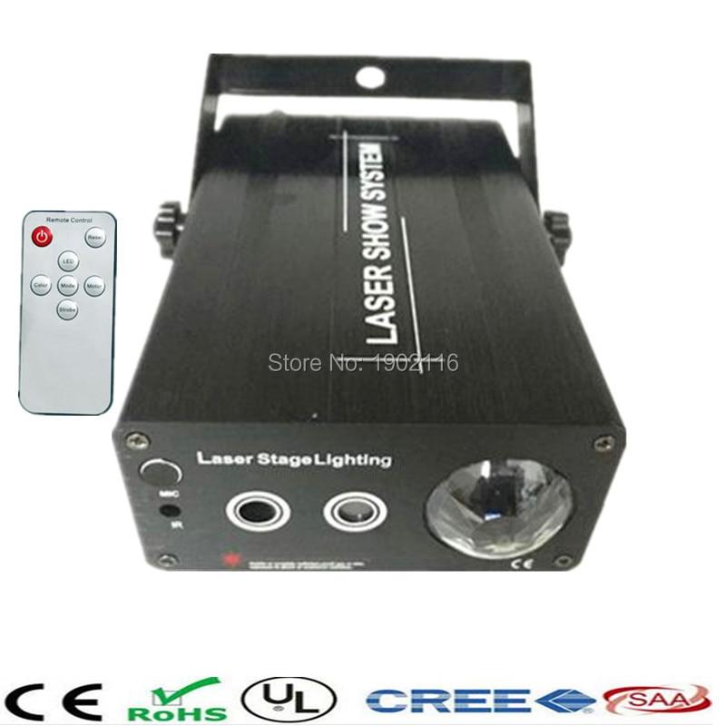 ФОТО Mini IR Remote 3 lens 24 Patterns Red Green Laser Stage Lighting DJ Disco Party Club Wedding Effect Lights led laser
