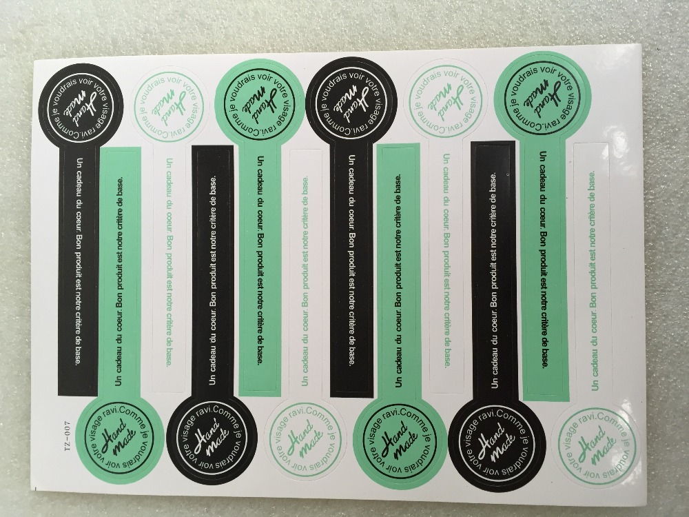1000pcs free shipping custom transparent self adhesive sticker box