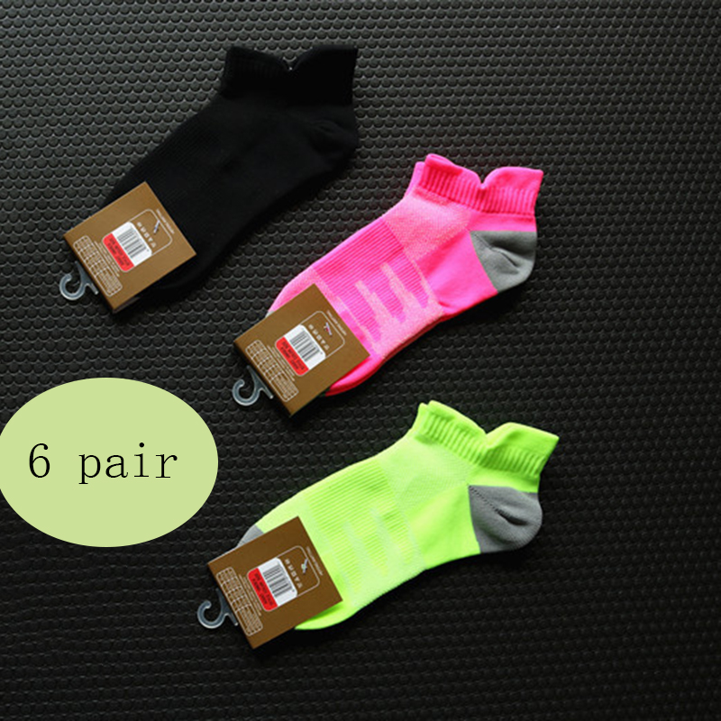 6 pairs Sports Socks Women Sports Wear Short Calcetines Ciclismo Sock fit Outdoor Running Walking Gym Socks