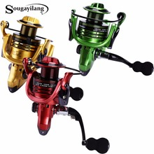 Sougayilang 3Colors Metal Material 13+1BB Fishing Reel GB2000-5000Series Fishing Reel Carp Fishing Spinning Reel Tackle De Pesca