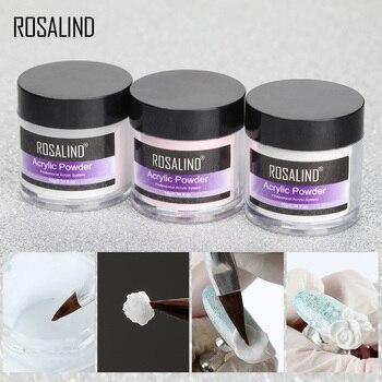 ROSALIND polvo acrílico Poly Gel para esmalte de uñas decoración de uñas Kit de manicura de cristal Accesorios de uñas profesionales