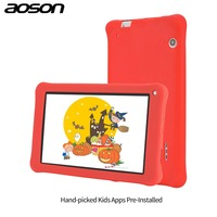Geschenk version Aoson M753-S 7 zoll kinder tablet für kinder Android 6.0 16 GB + 1 GB IPS 1024*600 Quad Core WiFi tablet mit fall