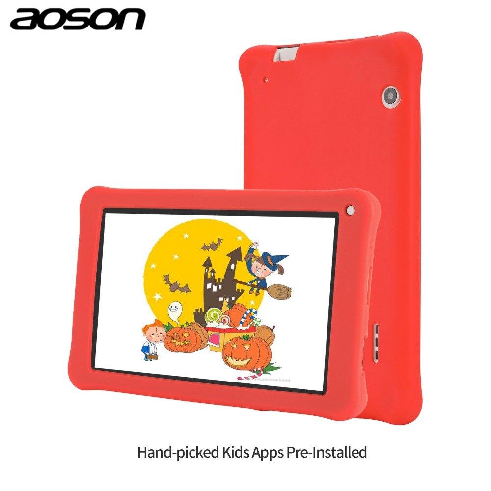 Presente versão Aoson M753-S 7 polegada crianças tablet para crianças Android 7.1 16 GB + 1 GB IPS 1024*600 Quad Core tablet Wi-fi com caso