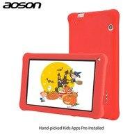 Quà tặng phiên bản Aoson M753-S 7 inch kids tablet cho trẻ em Android 6.0 16 GB + 1 GB IPS 1024*600 Quad Core WiFi máy tính bảng với trường hợp