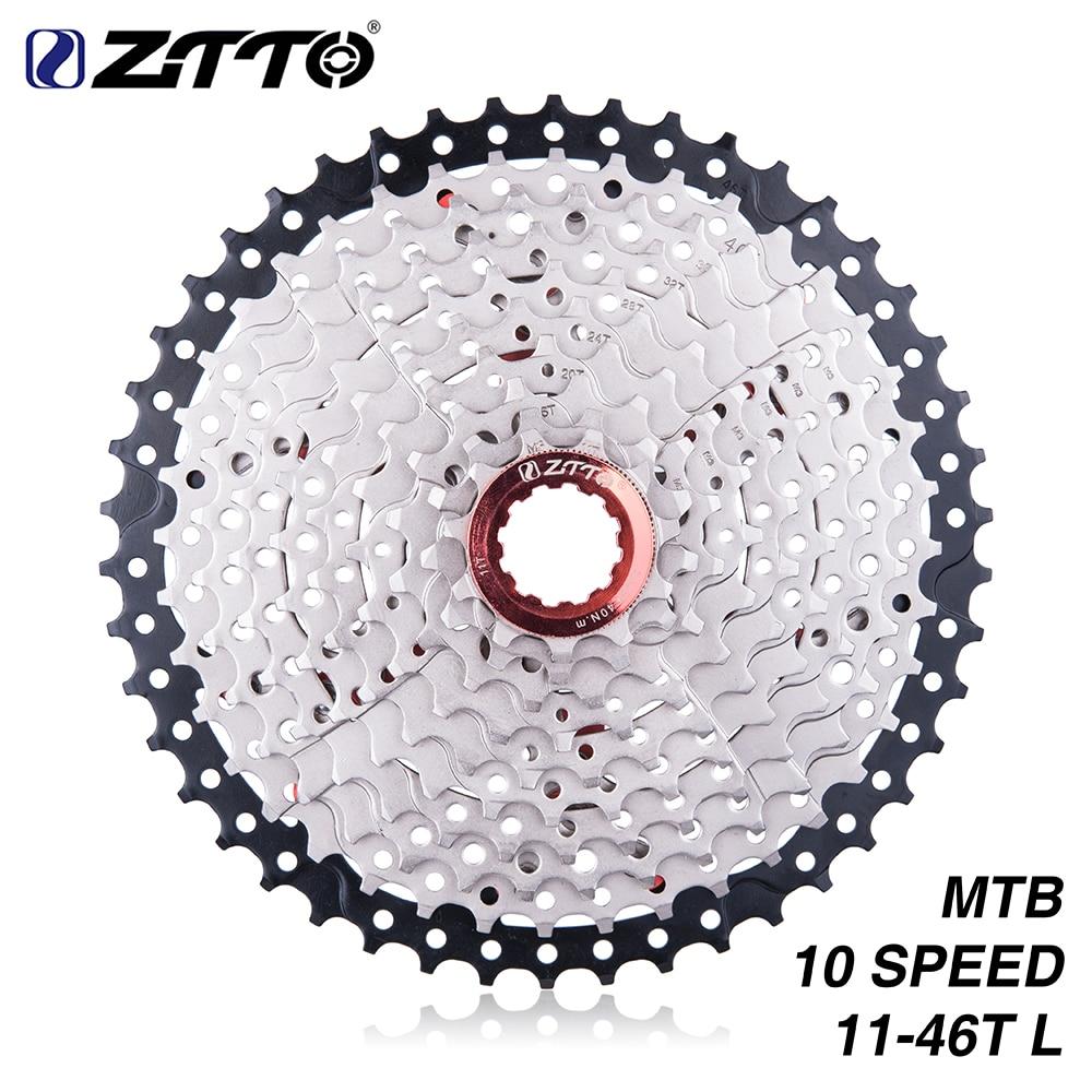 ZTTO MTB Mountain Bike Cassette Sprocket 10speed 11 46T Wide Ratio Freewheel For M590 M6000 M610