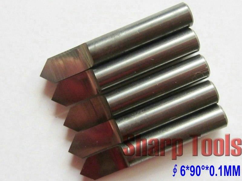 5 шт. 6 мм хвостовик 90 Угол 0,1 мм наконечник инструмента металлические биты, прочные фрезерные станки с ЧПУ, карбидные Гравировальные Резцы, резные фрезы