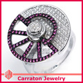 925 Sterling Silver Jewelry CZ Diamond Jewelry Fashion Design Big Rotary Wheel 925 Silver Ring
