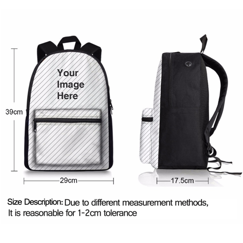 Canvas School Bag Backpack 3D Eiffel Tower Printing Women Backpacks for Adolescent Girl Female Back Pack Casual Rucksack