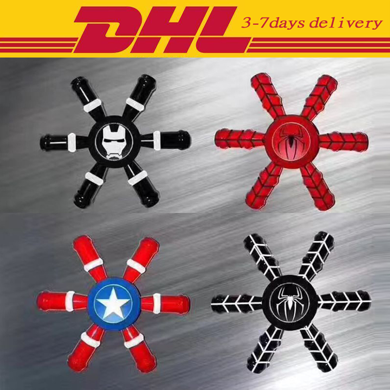 30 PCS DHL Fidget Spinner The Avengers Superhuman Powers Hand Spinner Toy Metal EDC For Autism