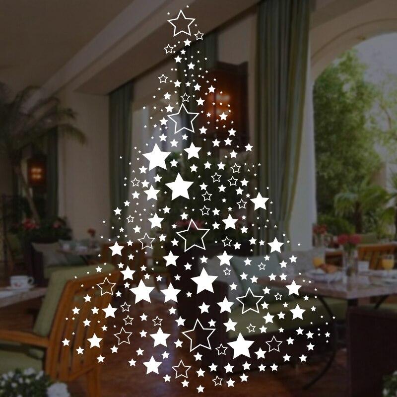 comprar grande de la navidad x mas tree pared del vinilo de cristal de la ventana mural art sticker decal decoracin decoracin que cubre