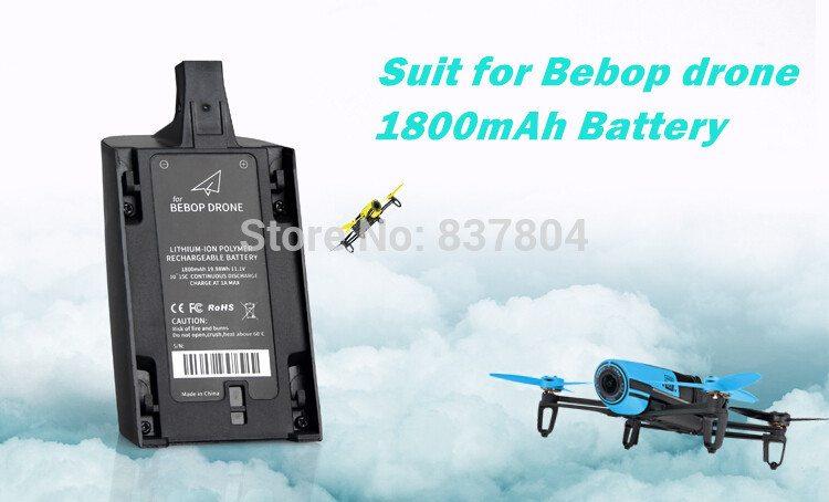 все цены на 11.1V 1800mAh Battery  for Parrot Bebop drone 3.0 A grade Chip Lithium-ion Polymer Rechargeable Battery онлайн