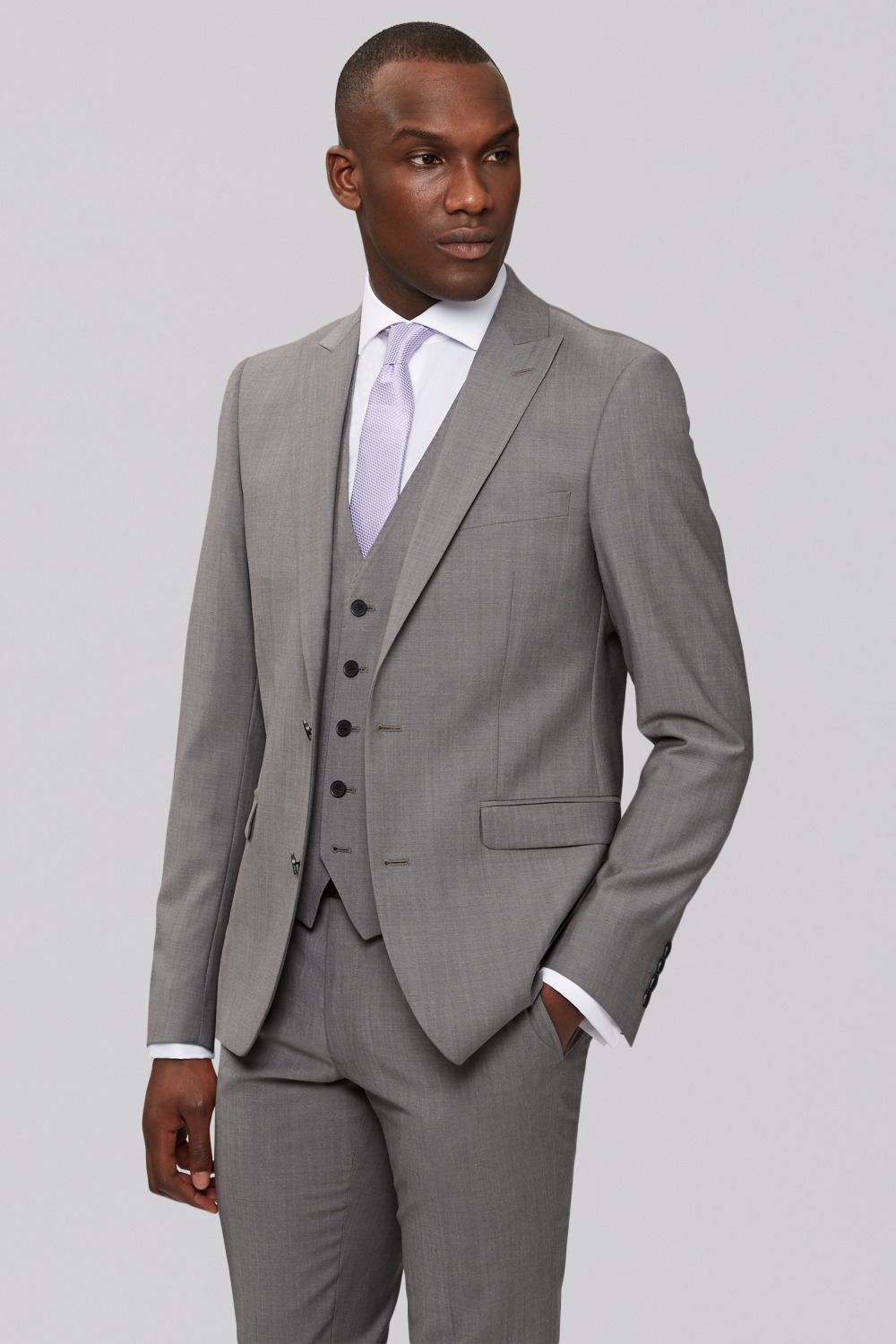 New arriving custom made cool grey wool with 2 button peak ...