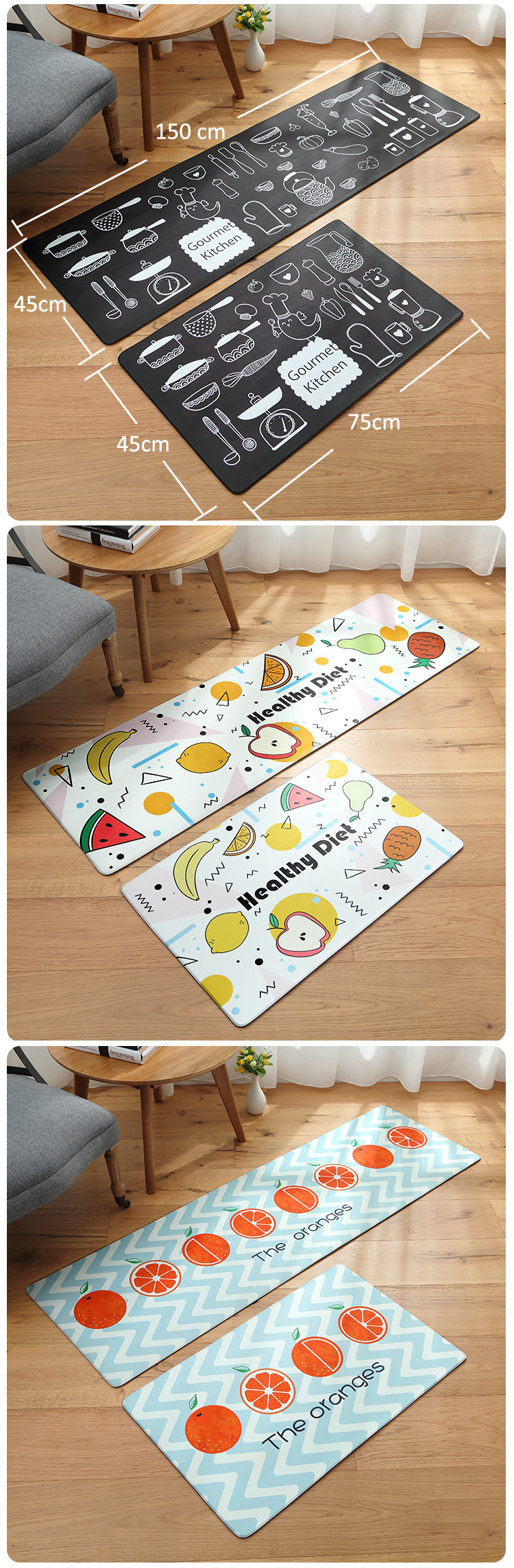 Kitchen Mat Waterproof/Oil-proof/ PVC Leather/Anti-fatigue Kitchen Carpet/Non-slip/Wear-resistant Best Children's Lighting & Home Decor Online Store