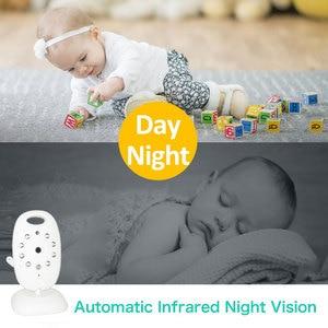 Image 2 - Babyphone vidéo sans fil, avec caméra de sécurité, vision nocturne, audio, 2 voies, moniteur de température, avec 8 berceuses
