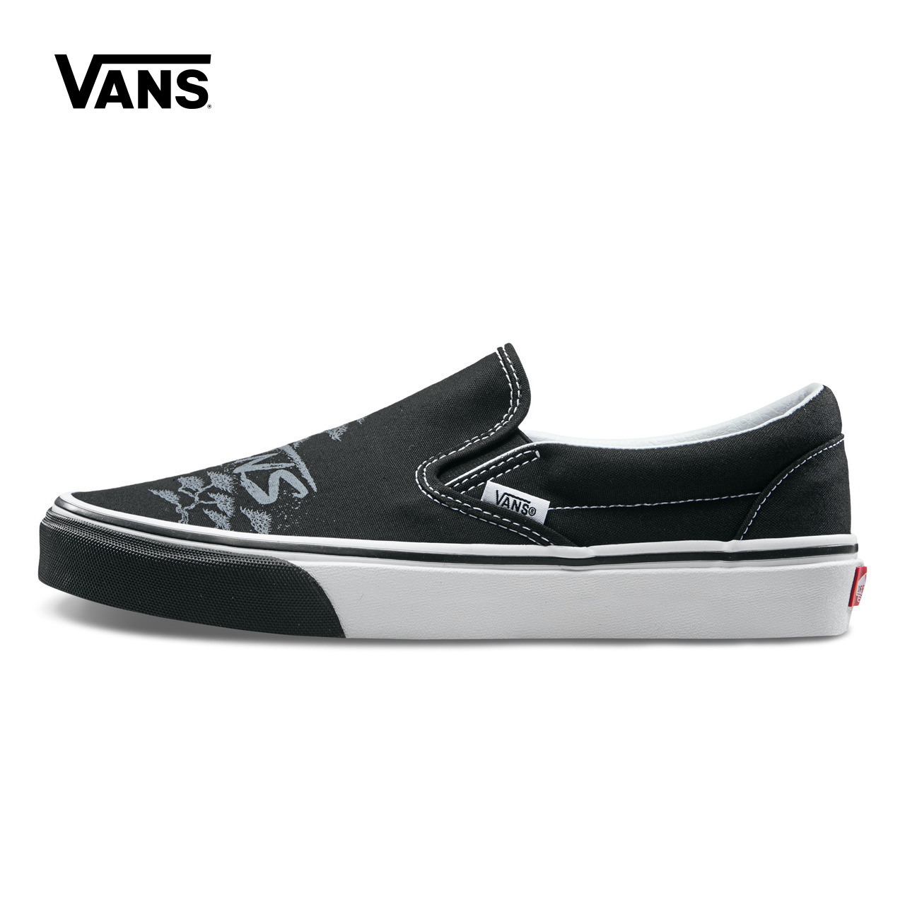 Original Black Vans Sneakers Men Women Classic Slip-On Low-top Skateboarding Shoes Canvas Comfortable Vans Shoes VN0A38F7PUQ original vans shoes white color unisex women men low top skateboarding shoes sports shoes slip on list canvas sneakers