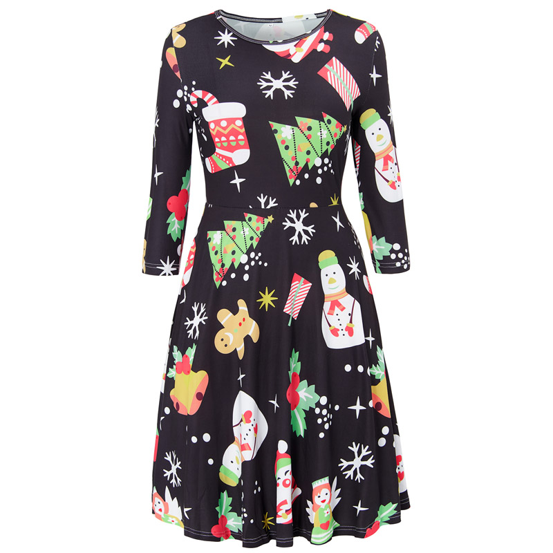 5f7337a760 Ugly Christmas Dress Large Size Winter Women Casual Cute Printed Dresses  Casual 2019 Loose Party Short Dress Plus Size Vestidos