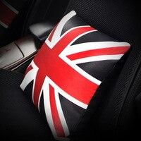 דגל בריטניה בריטי מודפס עור PU כרית תמיכת מושב מכונית מושבים אוטומטי כריות נוי רכב פנים אבזרים שחור אדום