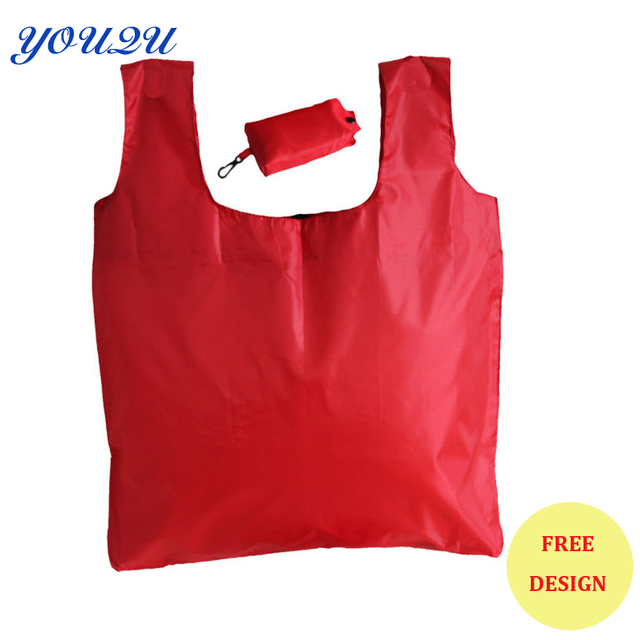 d7d1e4ff05d Lead-free cheap folding polyester nylon shopping bag with pouch LOWEST  PRICE escrow accpet