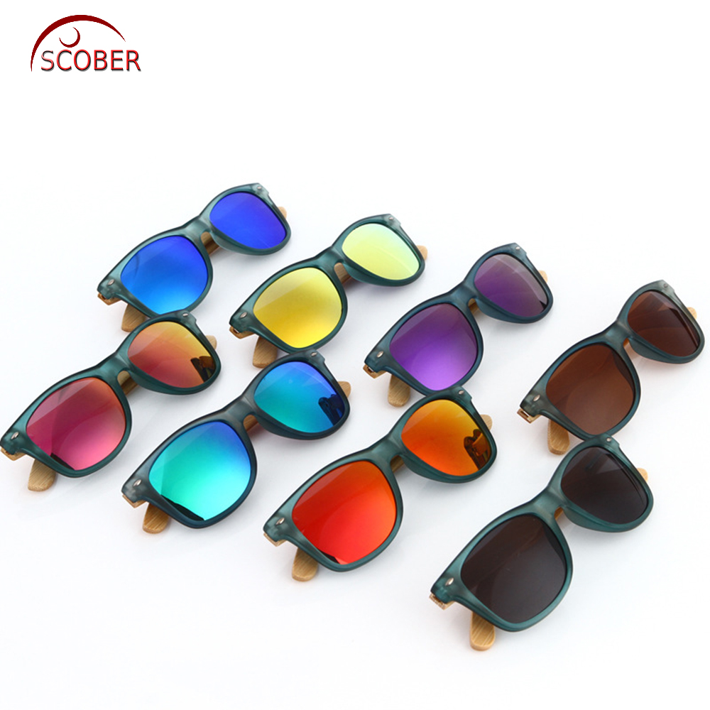 681902f01c43c  SCOBER  Fashions Trend Blue Natural Bamboo Wooden handmade Lady polarized  sunglasses Mirror Coated UV400 sun glasses with case-in Sunglasses from  Women s ...