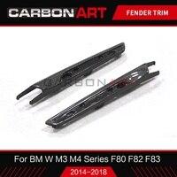 For BMW F80 M3 F82 M4 air vent exterior trim F83 M4 Carbon Fiber Fender trim cover F80 M3 F82 Carbon fender trim car styling