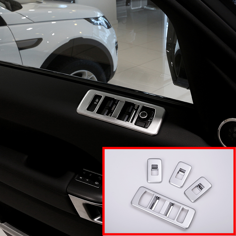 4 Pcs For Land Rover Range Rover Sport 2014 2017 Car Accessories ABS Chrome Window Lift