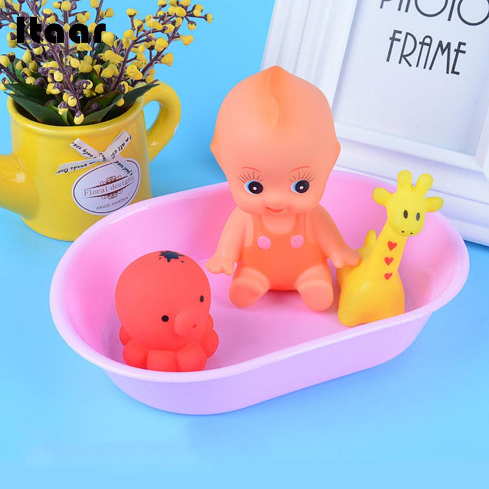 Floating Children Shower Toys Water Spray Animal Baby Bath Toy Giraffe Octopus Blue Swimming Pool Accessories