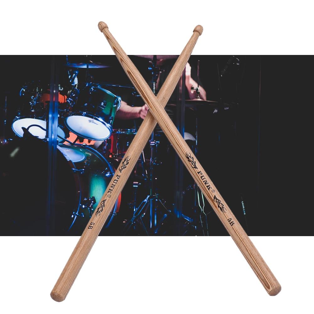 one pair of 5a wooden drumsticks drum sticks ash wood drum set accessories in parts. Black Bedroom Furniture Sets. Home Design Ideas