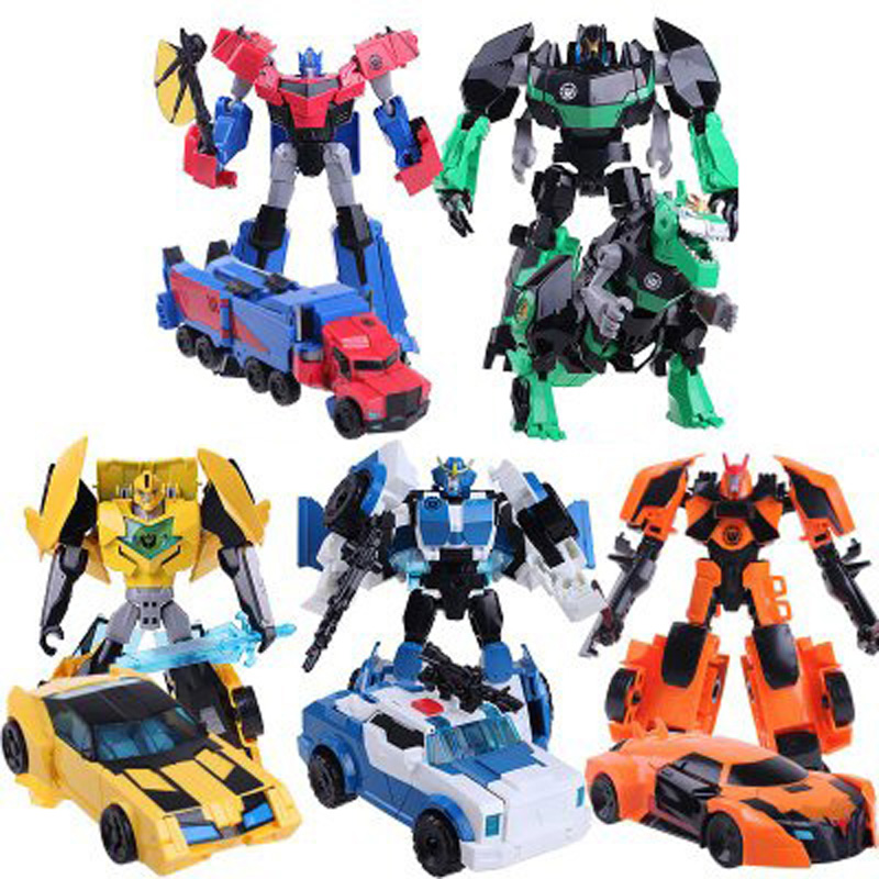 Toys Transformation Car-Model Action-Figure Christmas-Gift Alloy Anime 4-Robot Boy New
