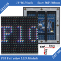 Wholesale 20pcs/lot Outdoor RGB P10 Full Color LED Display Module 160*160mm 16*16 pixels 7000mcd/sqm 1/4 Scan DIP346 LED