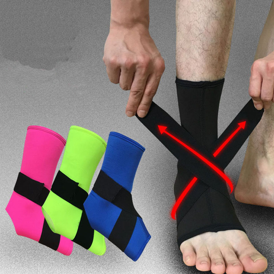 AOLIFE Sporting Store 1PCS Ankle Support Sport Breathable Ankle Brace Protector Football Basketball Elastic Ankle Pad Safety Brace Guard