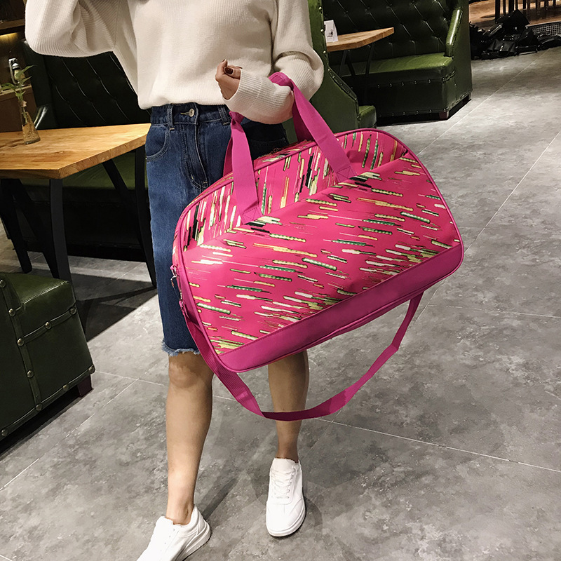 2018 new fashion simple men's and women's travel bag large capacity nylon duffel bag casual bags Double travel bag art east 16110 магнит гипсовый коза овца эк в асс