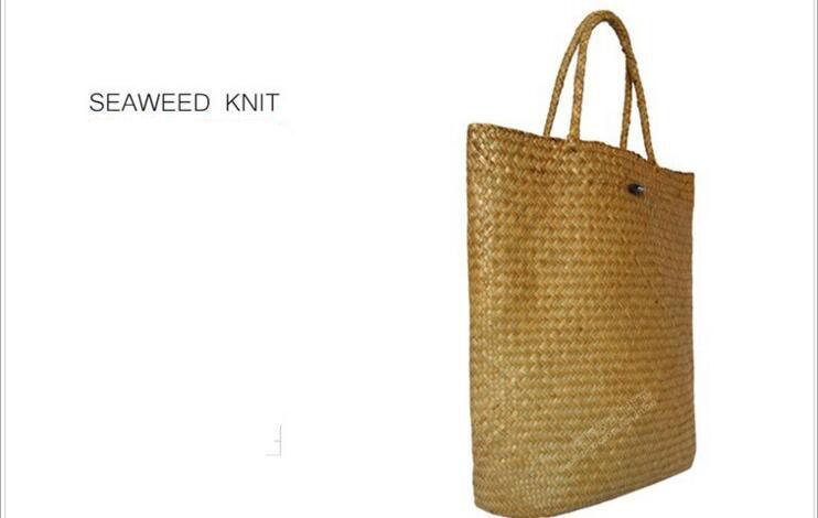 Kinesisk Immateriell Kulturarv Willow Straw Bag Stor Stro Handväskor - Väskor för bagage och resor - Foto 2