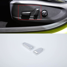 Car Styling ABS Chrome interior auto accessories seat button control cover For HYUNDAI KONA ENCINO 2018