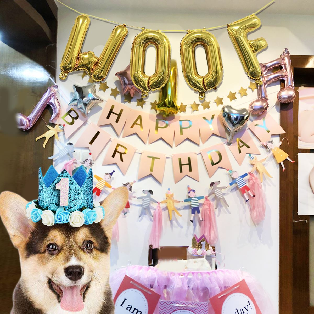 4PCS 16 Foil Balloon Woof Letter Decorative Decoration For Pets Birthday Party In Dog Accessories From Home Garden On Aliexpress