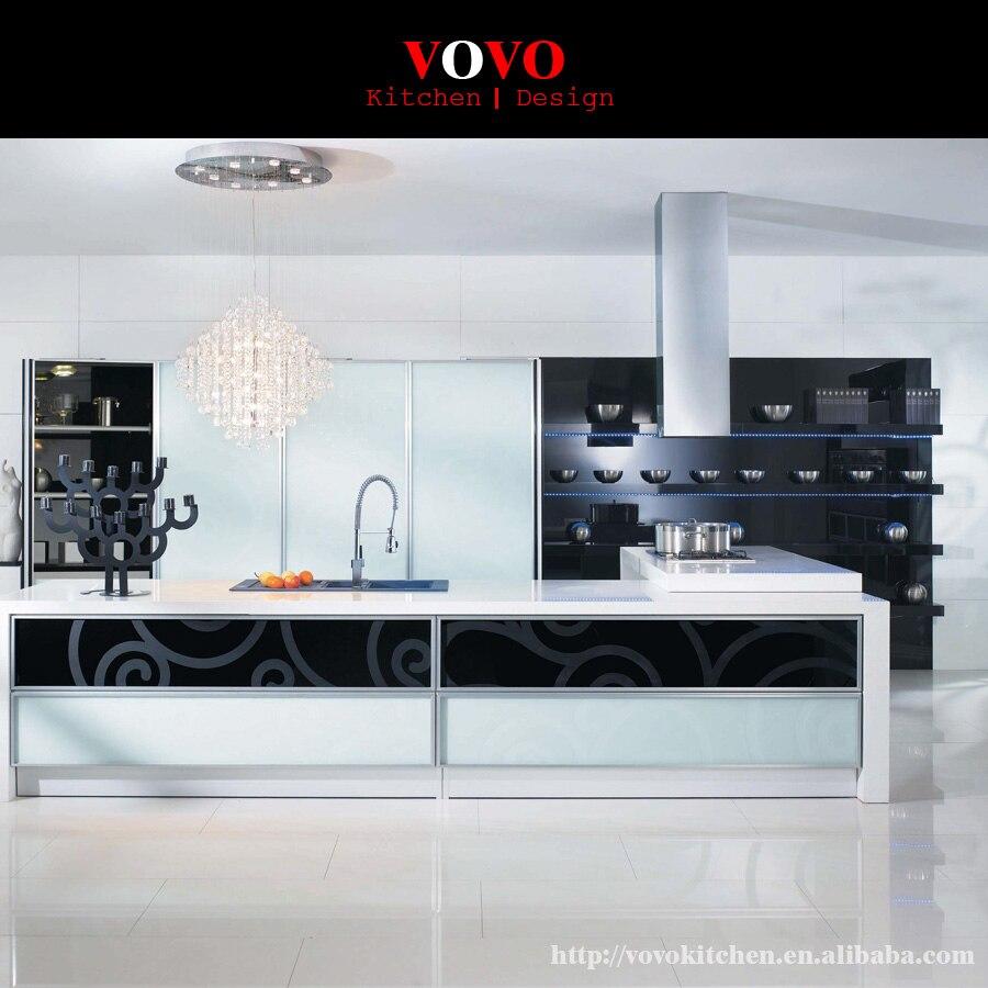 White High Gloss Popular Kitchen Cabinet Flat Pack