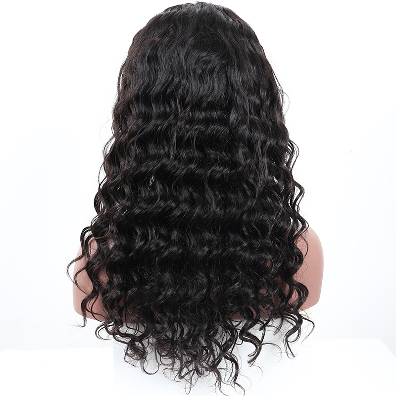 Pre Plucked Full Lace Human Hair Wigs With Baby Hair Loose Wave Brazilian Remy Hair 130% Density Full Lace Wigs For Women CARA