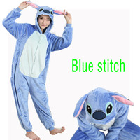 Pink Blue Stitch Onesie Pajamas Pajama Adult Unisex Cosplay Animal Onesies For Adults Pajama Suit Free