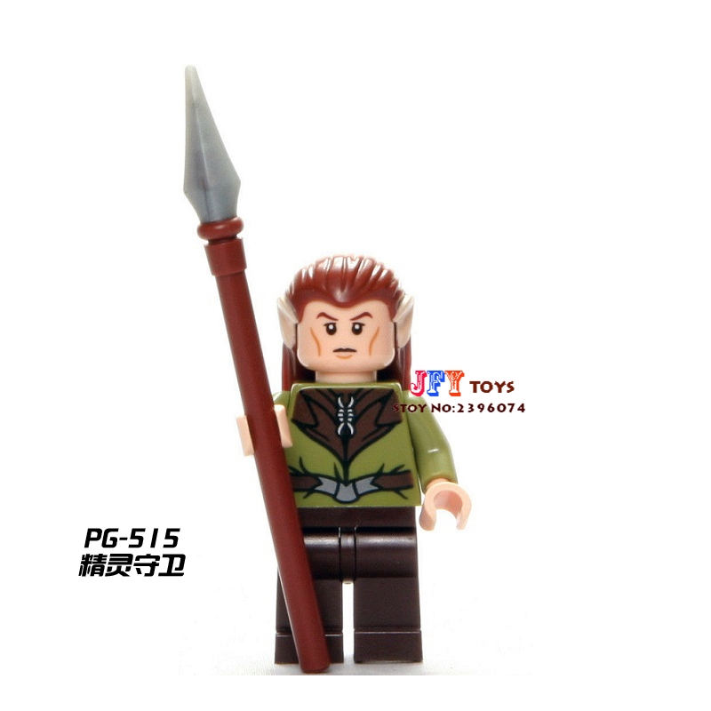 Single Sale star wars superhero The Hobbit Elf Guard LOTR building blocks model bricks toys for children brinquedos menino