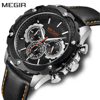 Creative Luxury Fashion Sport Quartz Waches Men Top Brand Leather Strap Chronograph Military Wrist Watch Military new